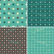 Seamless Polka Dot Patterns Collection — Stock Vector