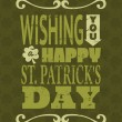 St. Patrick's Day Card — Stock Vector