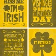 St. Patrick's Day Cards Set — Vettoriali Stock
