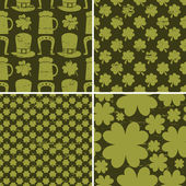St. Patrick's Day Patterns — Stock Vector