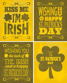 St. Patrick's Day Cards Set — Stock Vector