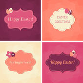 Easter Greeting Cards Collection — Stock Vector