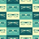 Retro Glasses Background — Stock Vector