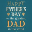 Vetorial Stock : Father's Day Card