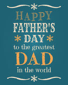 Father's Day Card — Vecteur