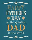 Cartão do dia dos pais — Vetorial Stock