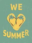 Vintage sommar affisch — Stockvektor