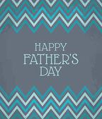 Chevron desen Babalar günü kartı — Stok Vektör