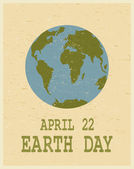 Earth Day Poster — Stock Vector