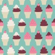 Ice Cream Cones Background — Imagens vectoriais em stock