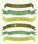 Earth Day Banners Collection — Stock Vector