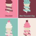 Ice Cream Posters Set — Stock Vector #23821921