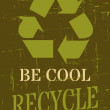 Recycle Symbol Poster — Stock vektor