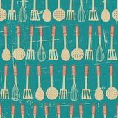 Retro Kitchen Pattern — Stock Vector