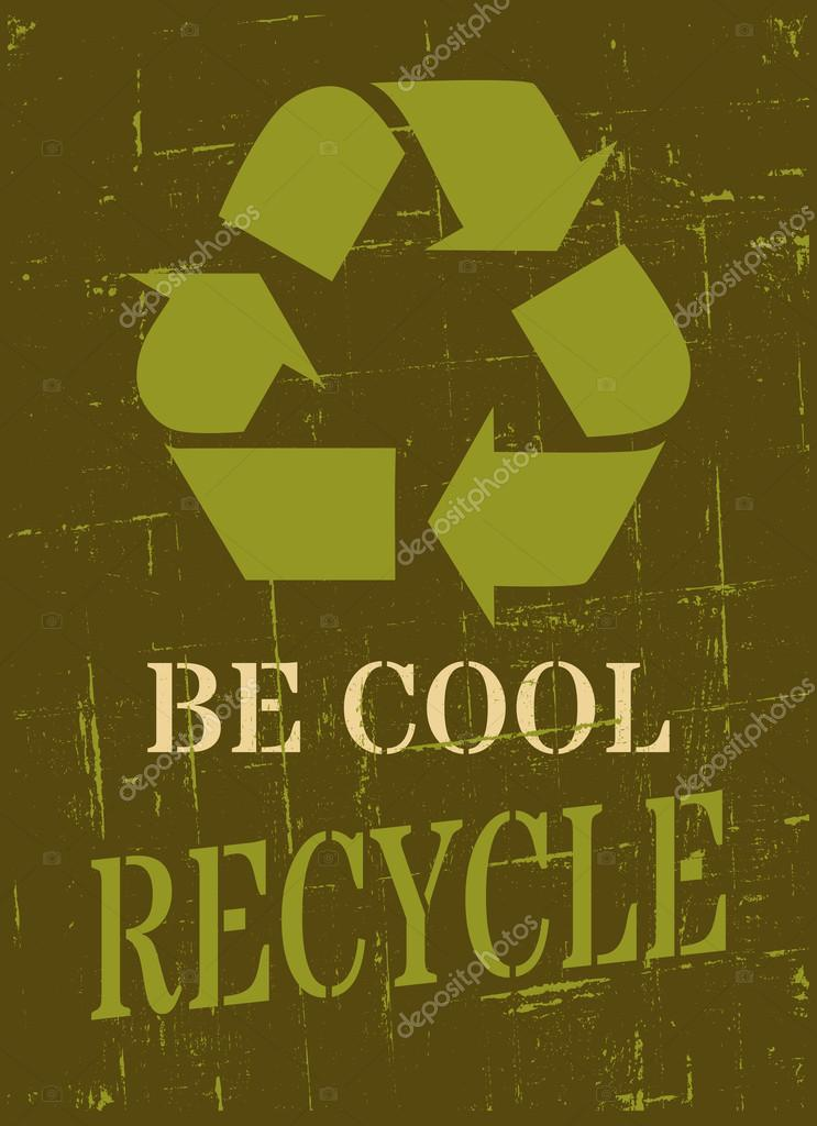 Cool Recycle Symbol With Recycle Symbol