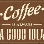 Retro Coffee Poster — Stock Vector #23912001