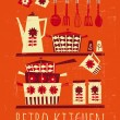 cartel de cocina retro — Vector de stock  #23912347