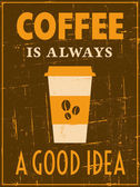 Retro kaffee poster — Stockvektor