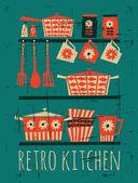 Retro Kitchen Poster — Stock Vector
