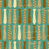 Vintage Ties Pattern — Stock Vector