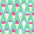 Stock Vector: Ice Cream Cones Background