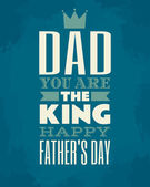 Denní karta otce — Stock vektor
