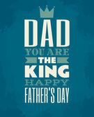 Tarjeta del día de padre — Vector de stock