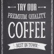 Chalkboard Coffee Design — Vector de stock #24817197