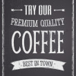 Chalkboard Coffee Design — Wektor stockowy #24817197