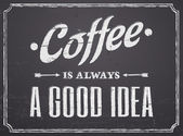 Tabuli kávy design — Stock vektor