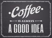 黑板咖啡设计 — 图库矢量图片