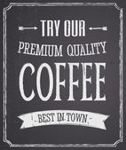 Kara tahta kahve tasarım — Stok Vektör
