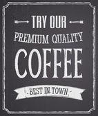 Svarta tavlan kaffe design — Stockvektor