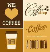 Kolekcja retro kawy — Wektor stockowy