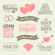 Wedding Design Elements — Vettoriale Stock #25559943