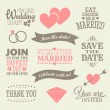 Wedding Design Elements — Imagen vectorial
