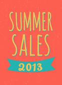 Summer Sales Poster — Stock Vector