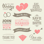 Svatební design prvky — Stock vektor