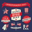 Stock Vector: Independence Day Design Elements Set