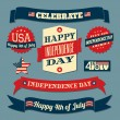 Independence Day Design Elements Set — Stock Vector