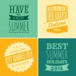 Stock Vector: Typographic Summer Design