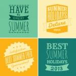 Typographic Summer Design — Stock Vector #26029761