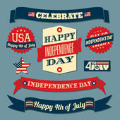 Independence Day Design Elements Set — Stockvektor