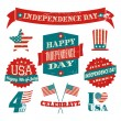 Independence Day Design Elements Collection — Imagens vectoriais em stock