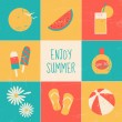 Enjoy Summer Set — Stock Vector