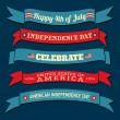 Independence Day Banners Collection — Imagen vectorial