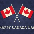 Happy Canada Day Card — Imagen vectorial