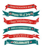 Independence Day Banners Collection — Stock Vector