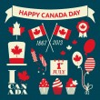 Canada Day Design Elements Set — Stockvektor