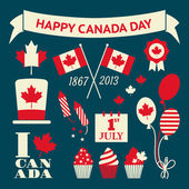 Canada Day Design Elements Set — Stock Vector